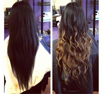 This Is A Before And After Picture Of An Ombre I Did Last Year Her Hair Was Virgin Had Never Been Dyed So The Color Came Out Perfect